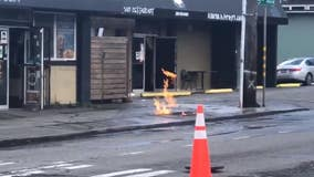 Portion of E. Cherry Street in downtown Seattle evacuated due to natural gas leak, fire