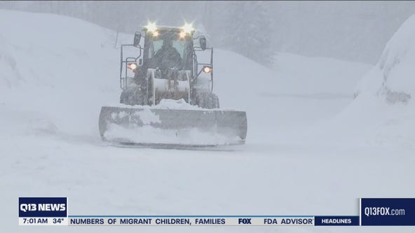 Heavy snow at passes, hail in lowlands