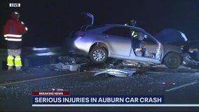 Wrong way crash in Auburn