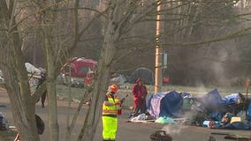 Crews clear another major Bellingham homeless encampment, but residents fear they'll move to another park