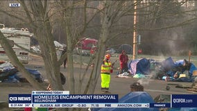 Homeless encampment removal