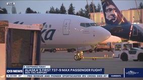 Alaska's first 737-9 MAX jet flight