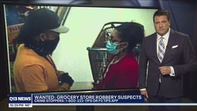 Grocery store robbery suspects wanted