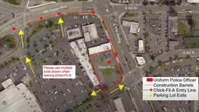 New traffic pattern announced for Chick-fil-A opening in Renton