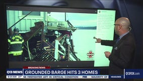 Barge crashes into Gig Harbor homes
