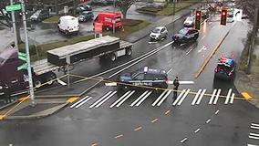 Police investigating fatal crash in Seattle involving pedestrian and semi-truck