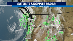 Active weather day with severe weather on the Washington Coast