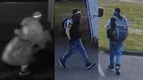 Help ID car crook seen stealing food bank's van, suspected of burglarizing building days before