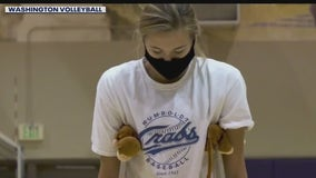 UW volleyball setter Ella May Powell reflects on months-long injury recovery