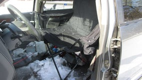 Traffic stop reveals Wisconsin driver seated in camping chair