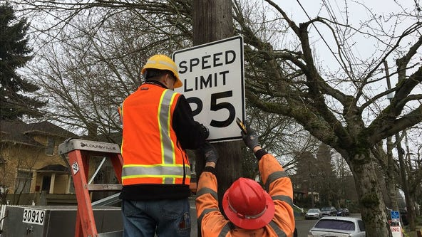 Seattle installs 2,500 new signs as city lowers speed limit to 25 mph on most major roads