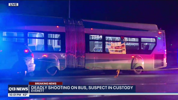Man shot, killed on city bus in Everett