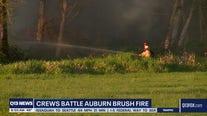 Crews battle Auburn brush fire