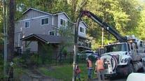 Landslide causes gas leak in Auburn