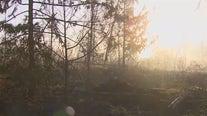 Pierce County fire crews battle brush fire near Eatonville