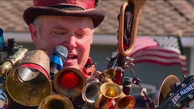 One Man Band brings joy to neighborhoods