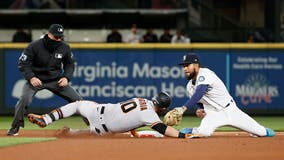 Mariners make comeback on Opening Day with 8-7 victory over Giants in 10 innings