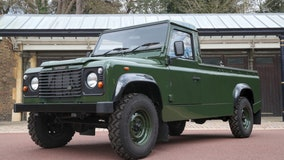 Prince Phillip designed his own hearse, a modified Land Rover, to carry his coffin in procession