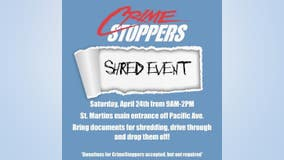 COMING UP: Crime Stoppers of South Sound's annual shred event to help fight ID theft