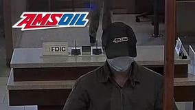 Help ID suspect seen wearing unique 'Amsoil' mechanic hat for bold bank robbery