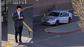 Help ID suspect, vehicle seen on camera after using purse theft victim's credit card to buy $500 in gift cards