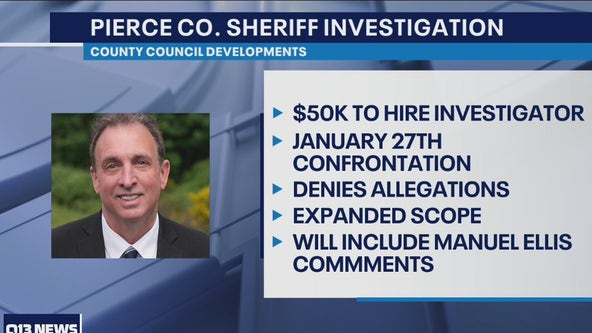 Pierce County Council moving forward with independent investigation of Sheriff Troyer