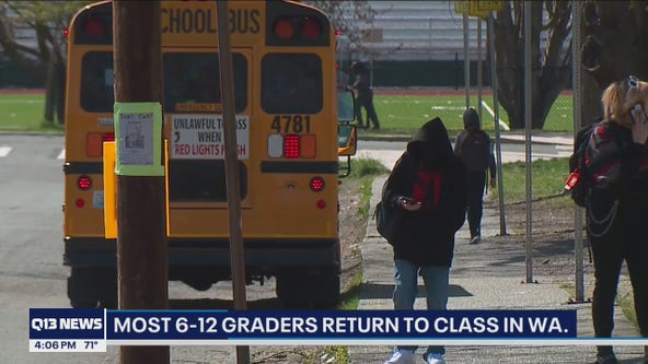 Washington 6-12 students return to school for the first time in over a year