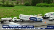 Big cleanup on I-5 North after crashes