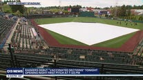 Rainiers debut vaccinated sections at opening night