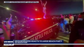 Seattle neighborhood reacts to large 'TikTok' party and police response at Alki Beach