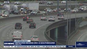 Plan for delays, lane closures on southbound I-5 in Seattle for repaving project