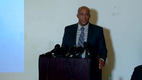 Attorney James Bible speaks at briefing following officers charged in death of Manuel Ellis