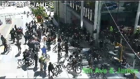 Police make arrests during downtown Seattle marches
