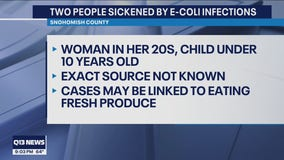Two people in Snohomish County sickened by E. coli infections