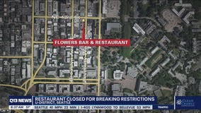 Restaurant closed for breaking COVID restrictions