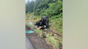 Woman seriously hurt in rollover crash on I-5 North that snarled morning commute