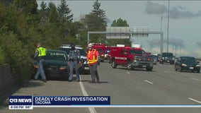 Woman arrested for vehicular homicide after hitting, killing person changing tire on I-5