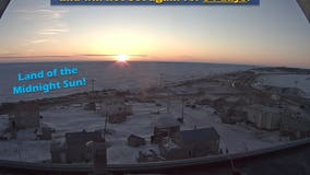The sun rose in northern Alaska Monday and won't set for nearly 3 months!