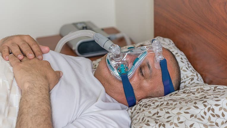 CPAP treatment for sleep apnea which is a type of sleep