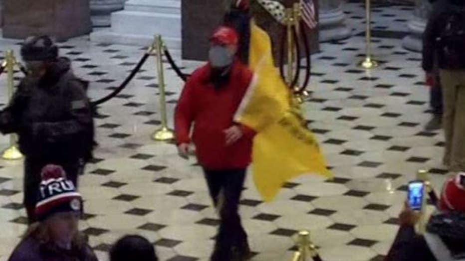 Joseph Elliott Zlab inside the U.S. Capitol