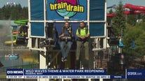 Q13 News anchor rides 'Brain Drain' ahead of Wild Waves reopening