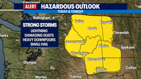 Weather Alert Day: Soggy Sunday and thunderstorms possible in the Cascades
