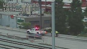Man seen throwing rocks, concrete onto I-90 again