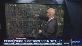 Suspect shot by police in Puyallup