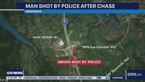 Man shot by police after chase on I-5 in Clark County