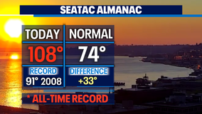 Sea-Tac hits all-time record high at 108F