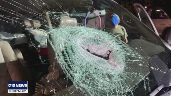 Two men arrested for throwing rocks at cars on freeway