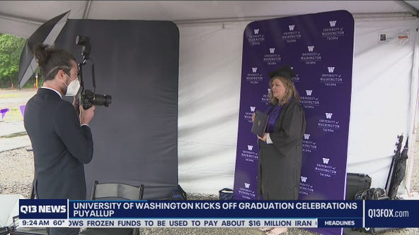 University of Washington celebrates students with drive-thru graduation
