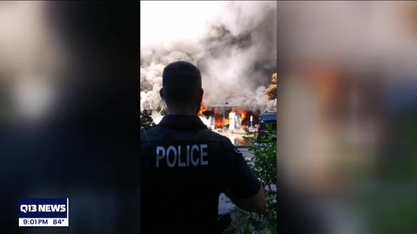 Firefighters respond to large house fire in Snohomish County