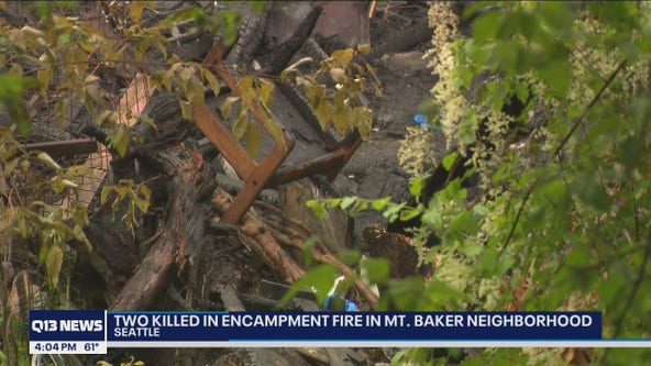 2 people killed in fire at Seattle homeless encampment